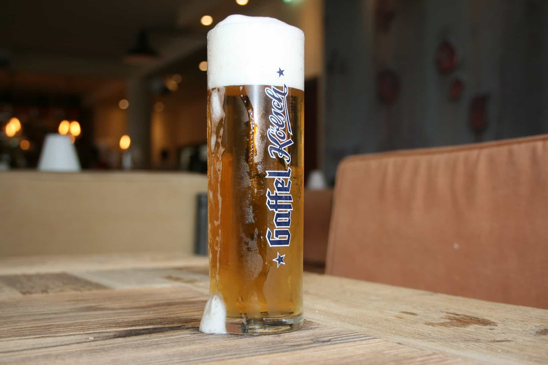 Germany - Cologne - Kolsch on table for the weekend itinerary