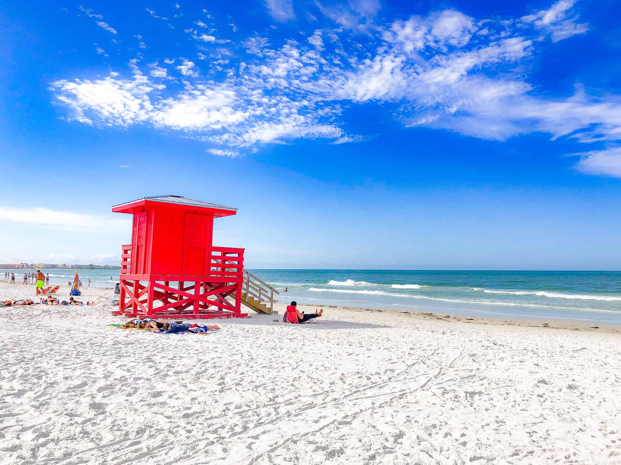 United States - Florida - Gulf Coast - Siesta Key Beach with Lifeguard Hut for West Coast Florida Road Trip Itinerary