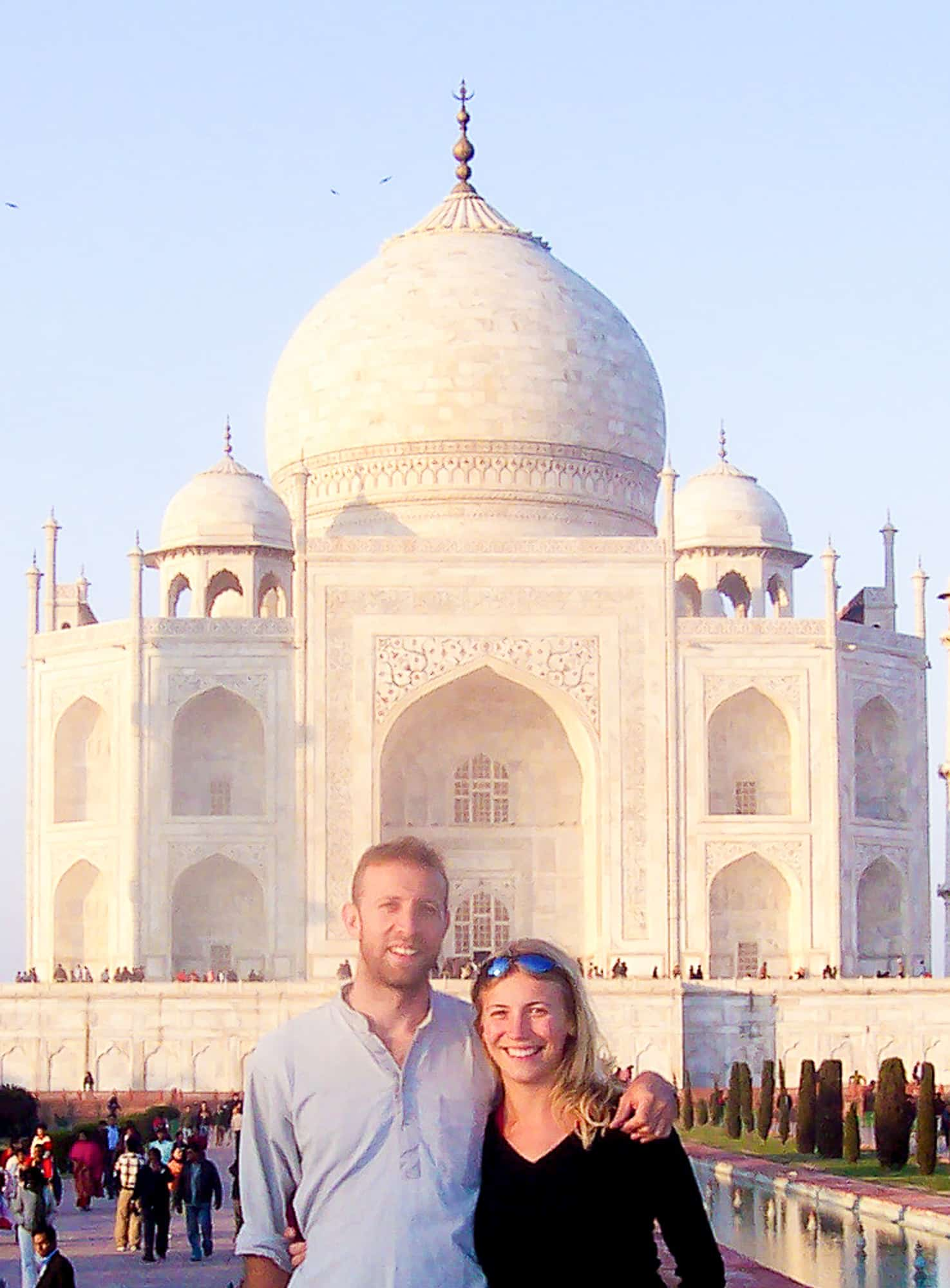 India - Agra - Taj Mahal - Iconic Spot - Abigail King and Husband