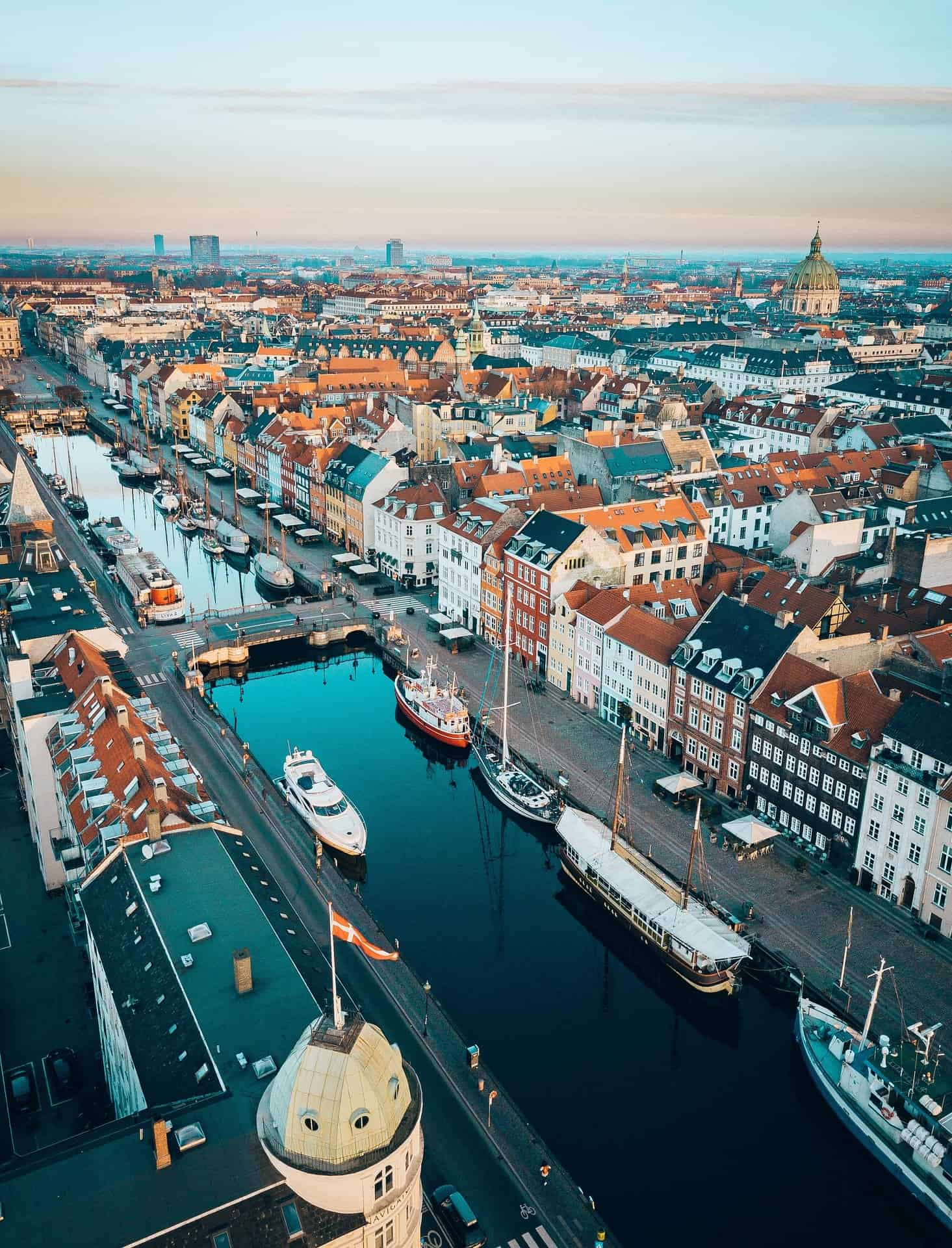 Denmark - Copenhagen - City Skyline view