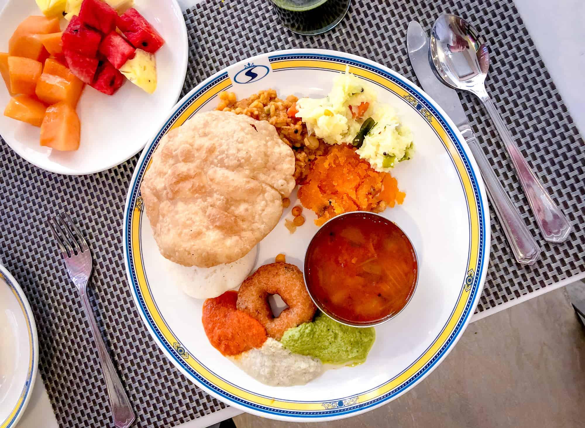 India - Karnataka - Mysore Food -Breakfast Platter
