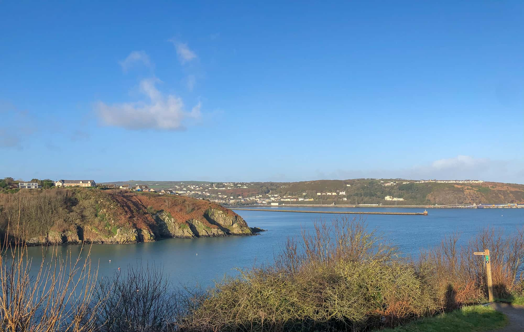 View over Fishguard Pembrokeshire Wales