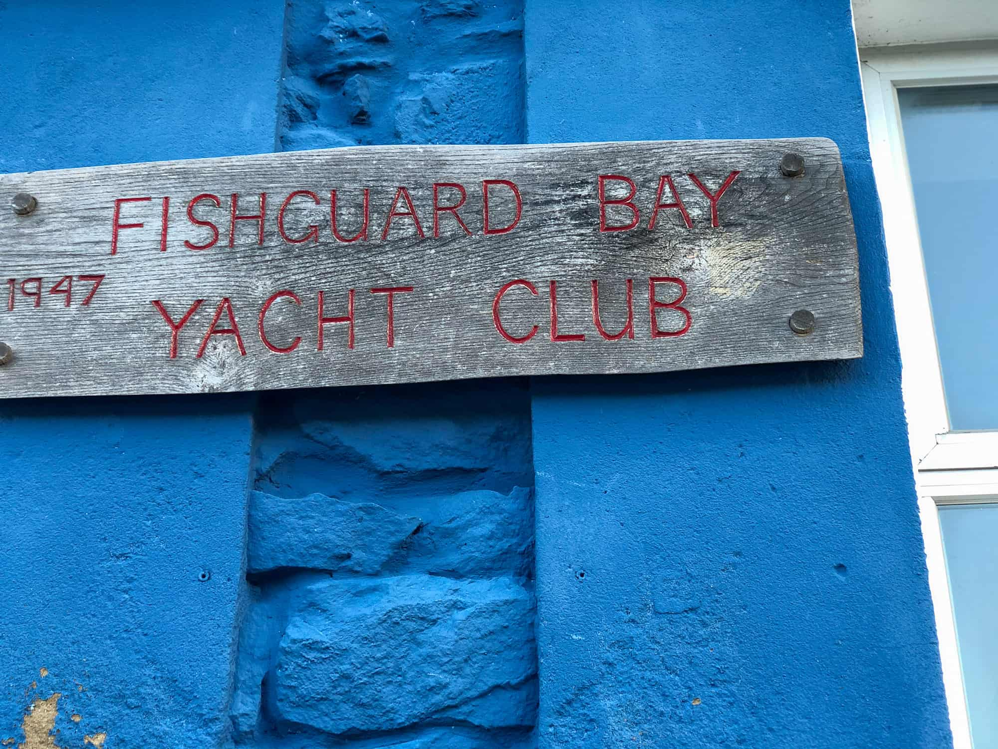 Wales - Pembrokeshire - Fishguard Yacht Club Sign