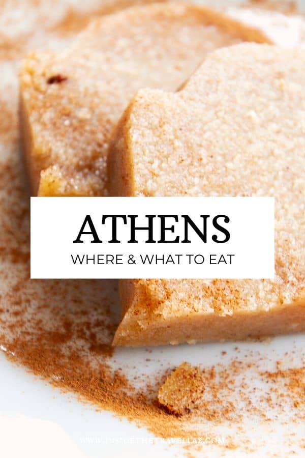 Athens where and what to eat food guide. Find the best restaurants and street food in Athens, Greece, as well as a menu guide to uncover traditional Greek food. Find hidden gems and famous bites to eat with this ultimate food guide to Athens. #Athens #Greece