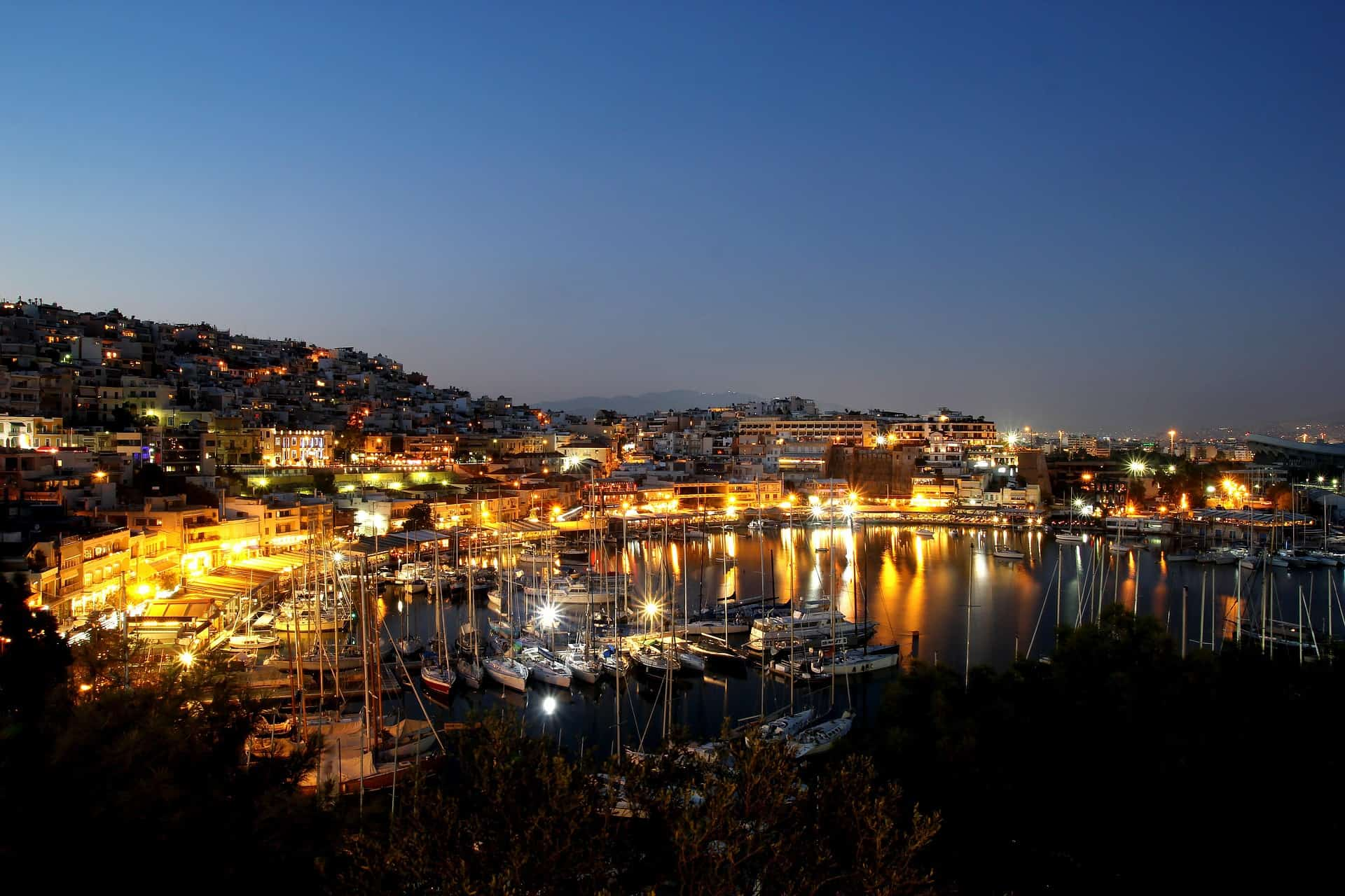 Greece - Athens - Piraeus - At Night