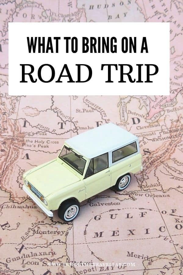 Road trip Packing List - what to bring on a road trip for families and solo travelers
