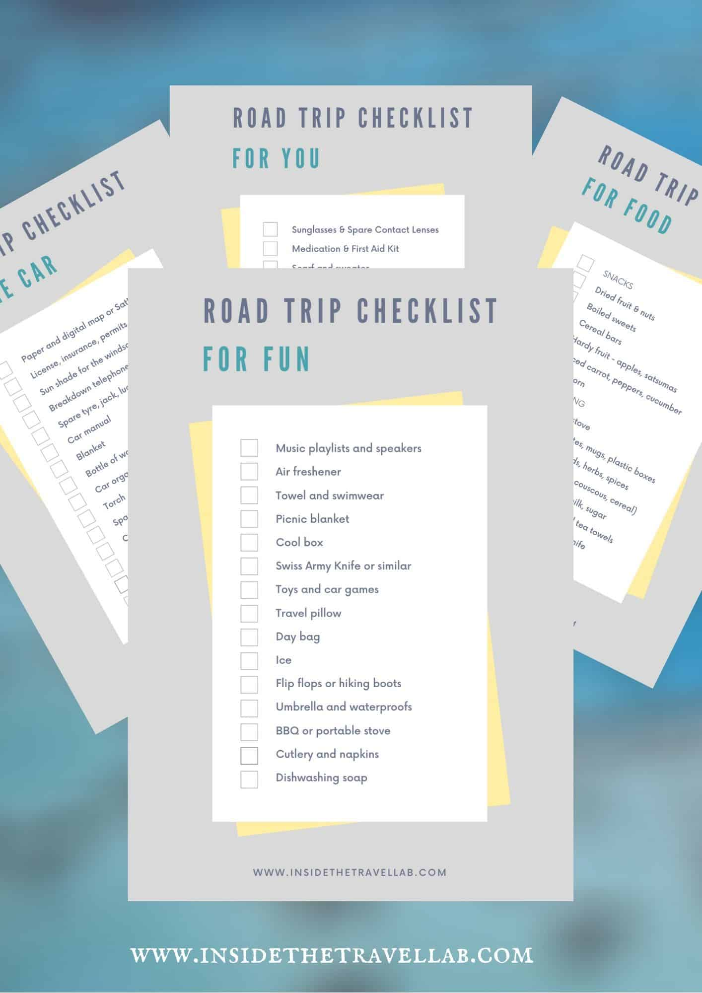 Ultimate Road Trip Packing Checklist PDF Cover Image