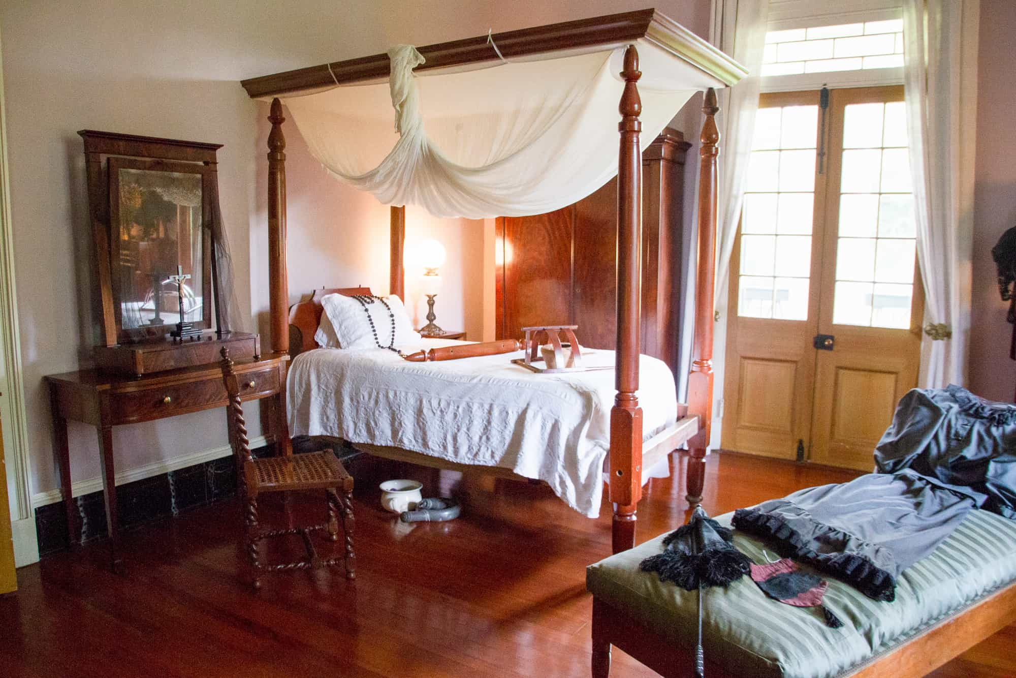 USA - Louisiana - Great River Road-Plantation Owner Bedroom