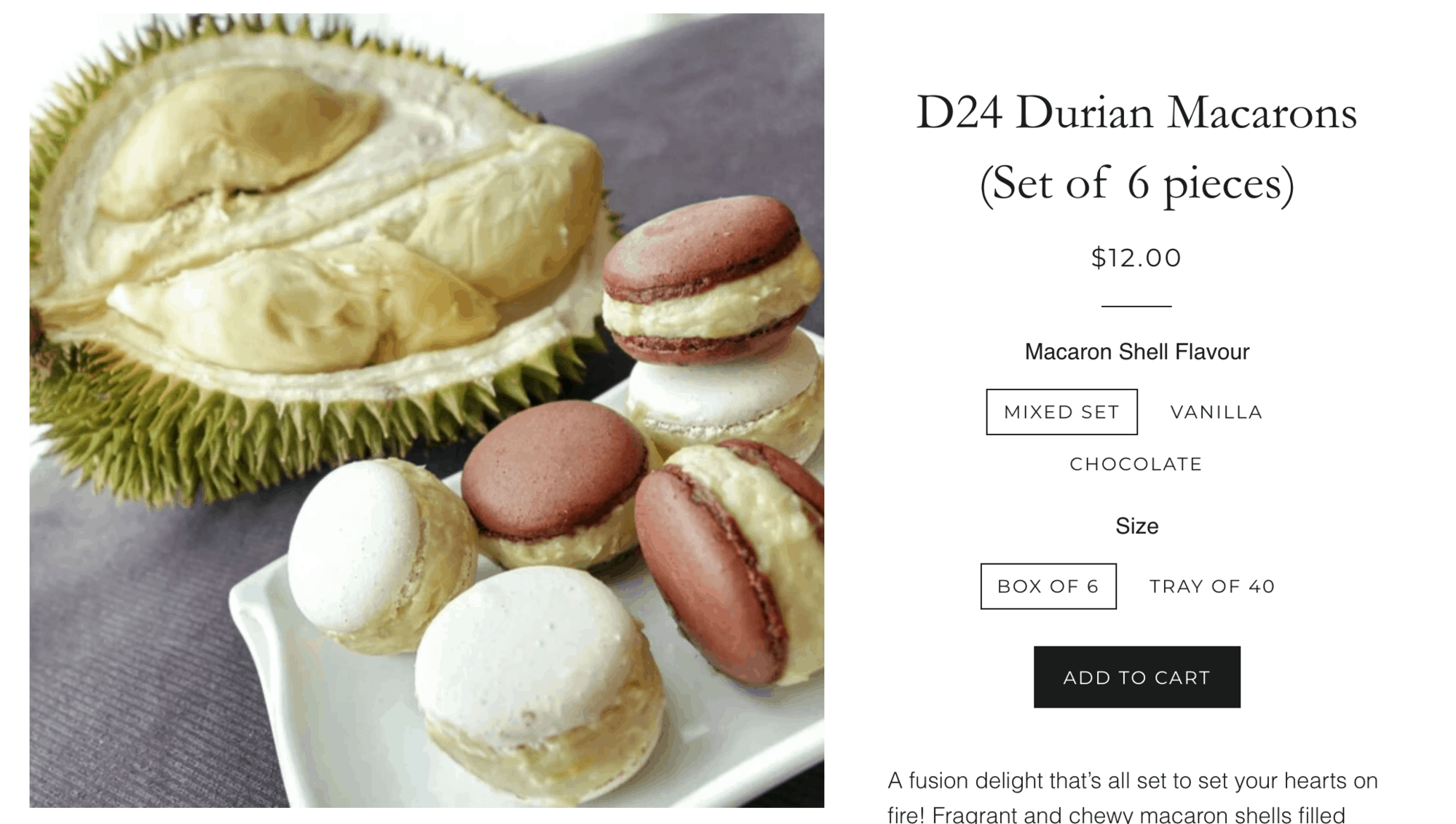 Durian Puffs - a quirky food souvenir from Singapore