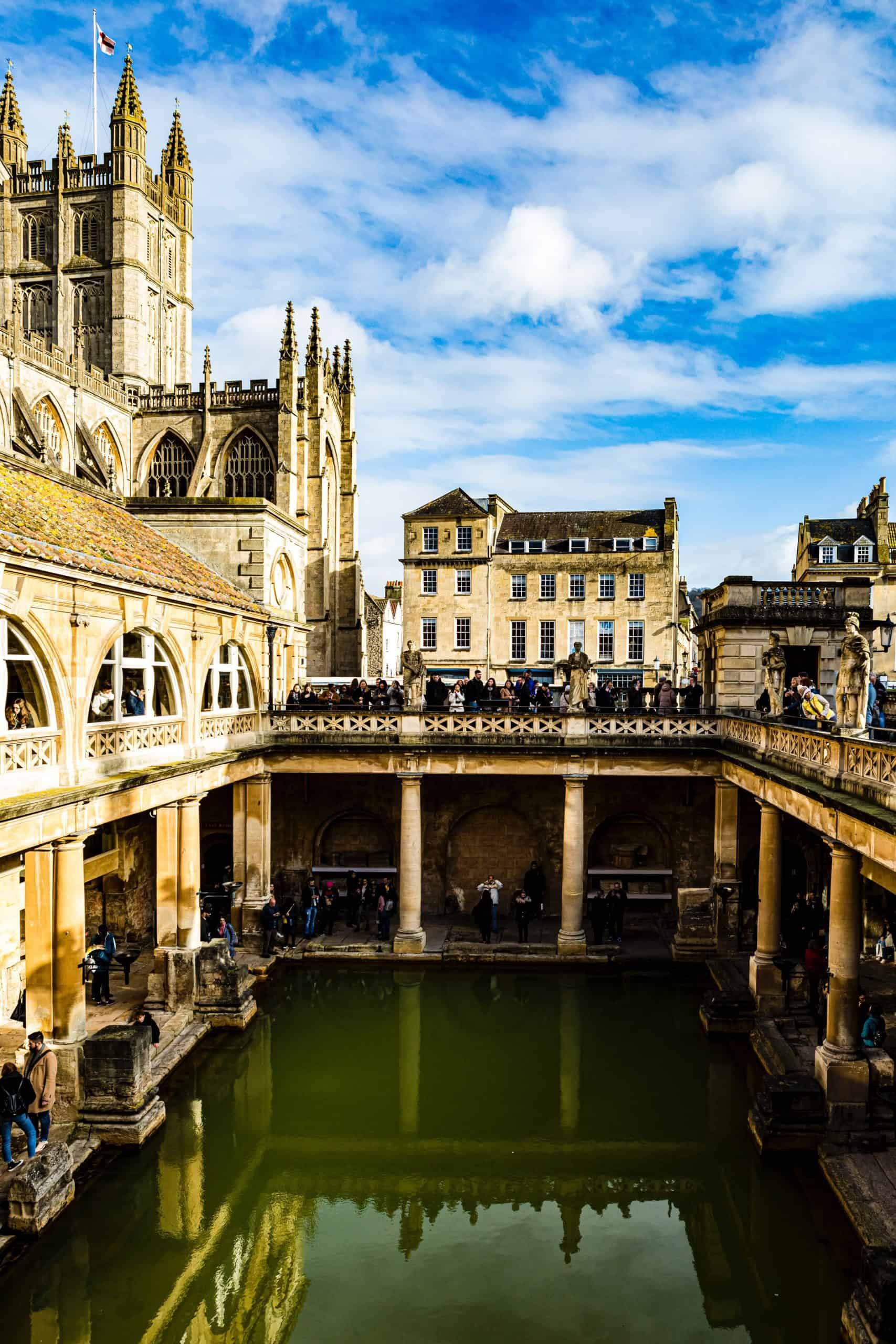 England - Bath Spa - Roman Baths and Abbey
