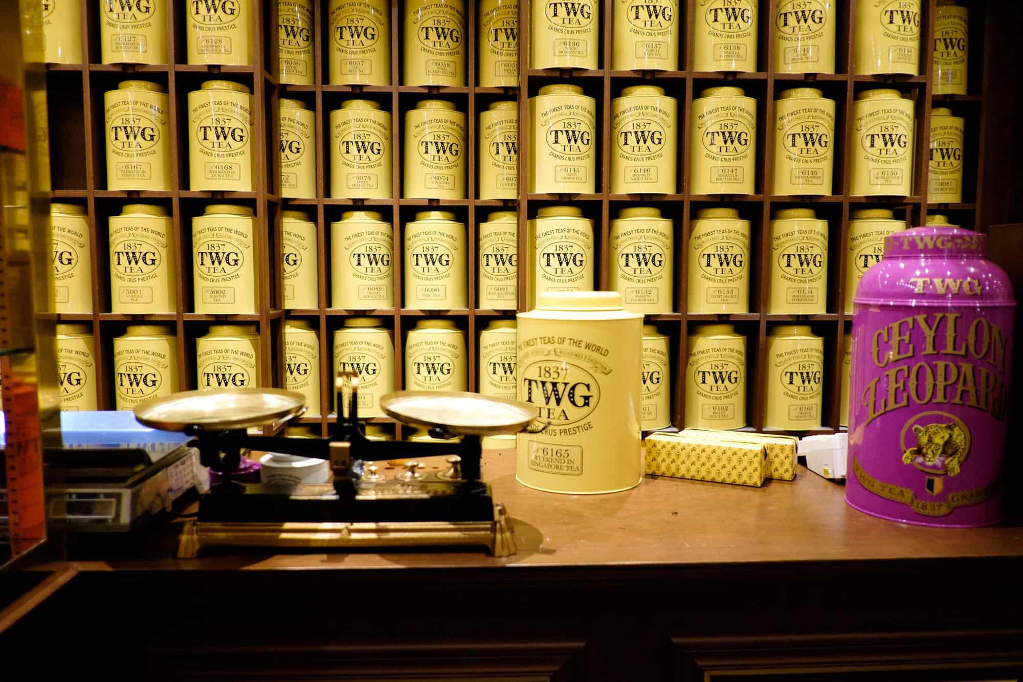 TWG Tea - a great food souvenir from Singapore