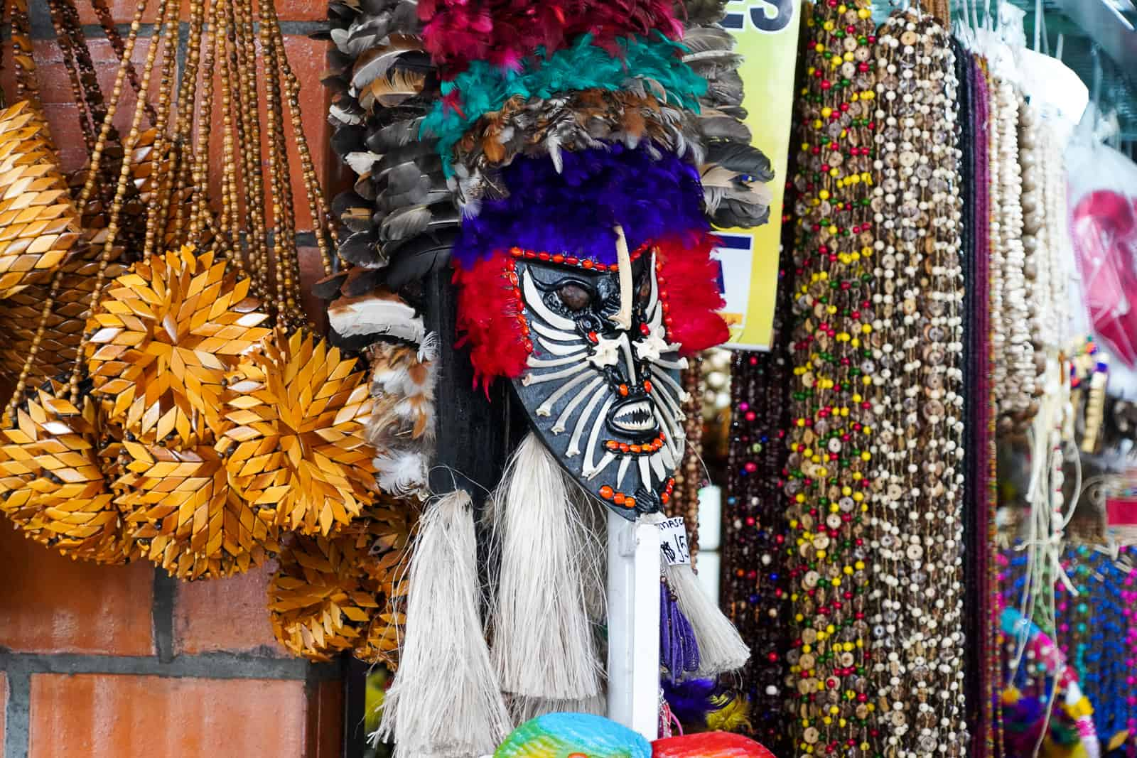 Traditional headdress in the market