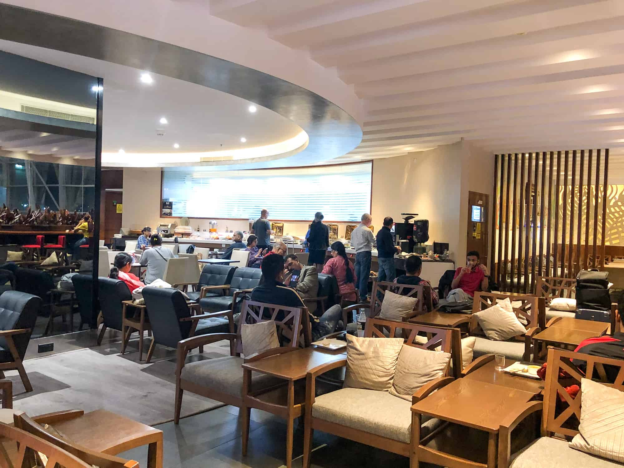 Bangalore Airport Bengaluru Business and First Class Lounge Interior