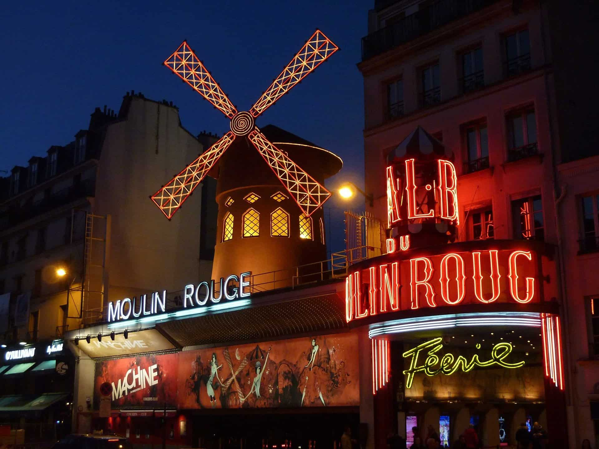France - Paris - Moulin Rouge at Night