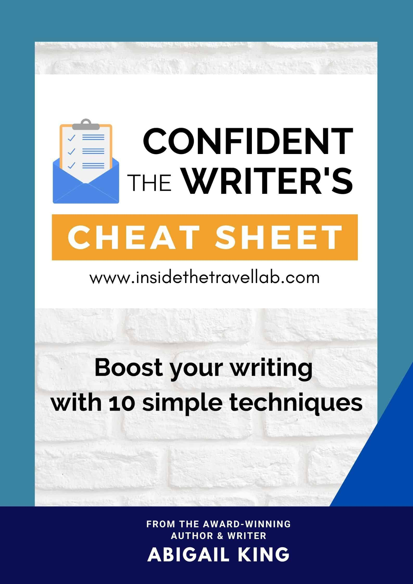 Confident Writer's Cheat Sheet Cover Image