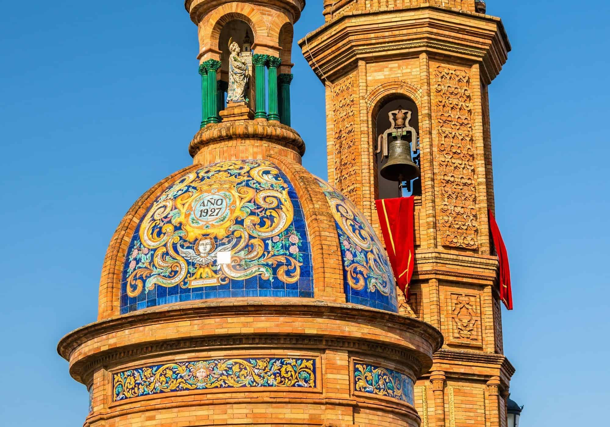 Spain - Seville - Triana - Capilla Carmen - Roof Dome View
