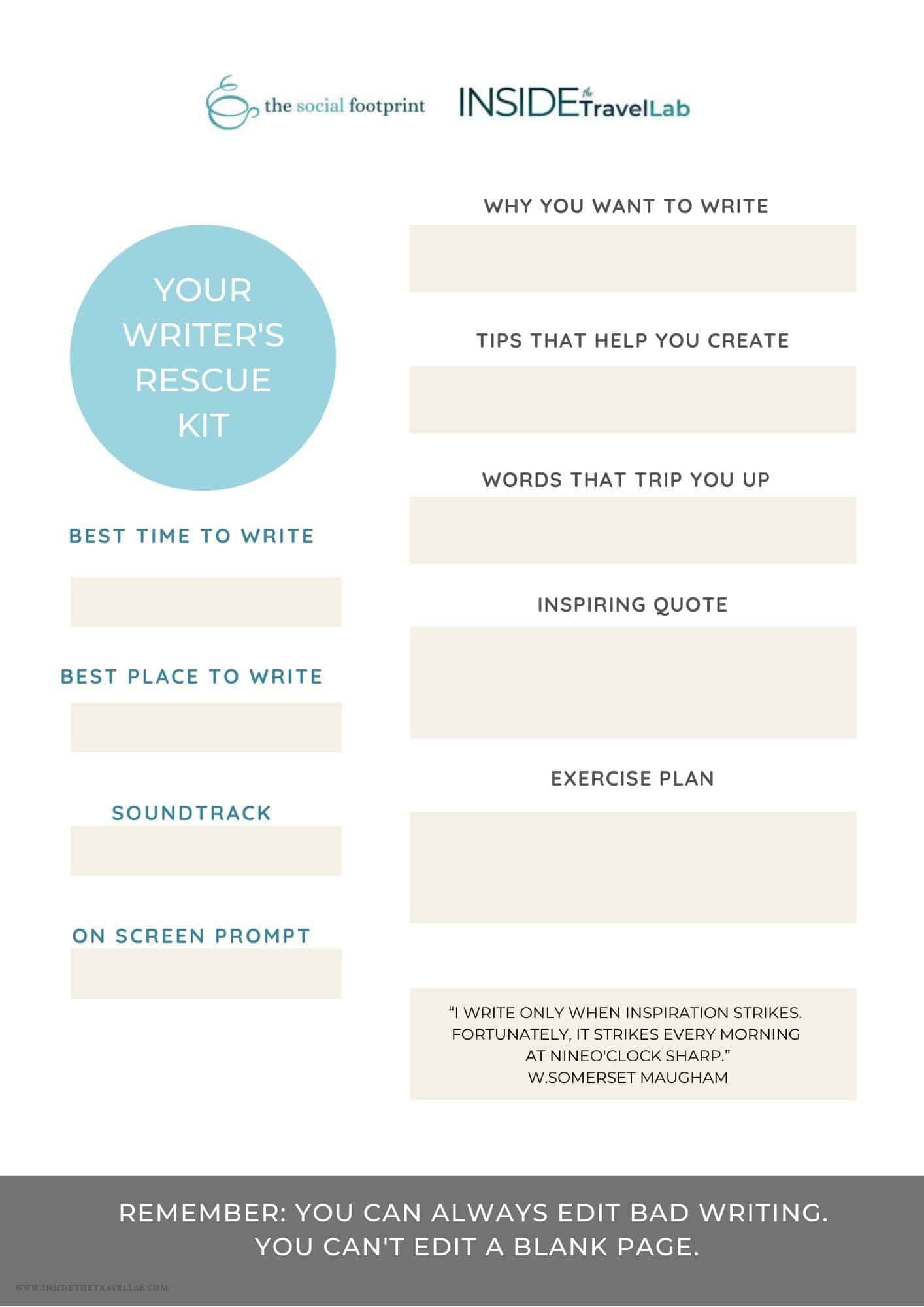 Your Writer's Rescue Kit