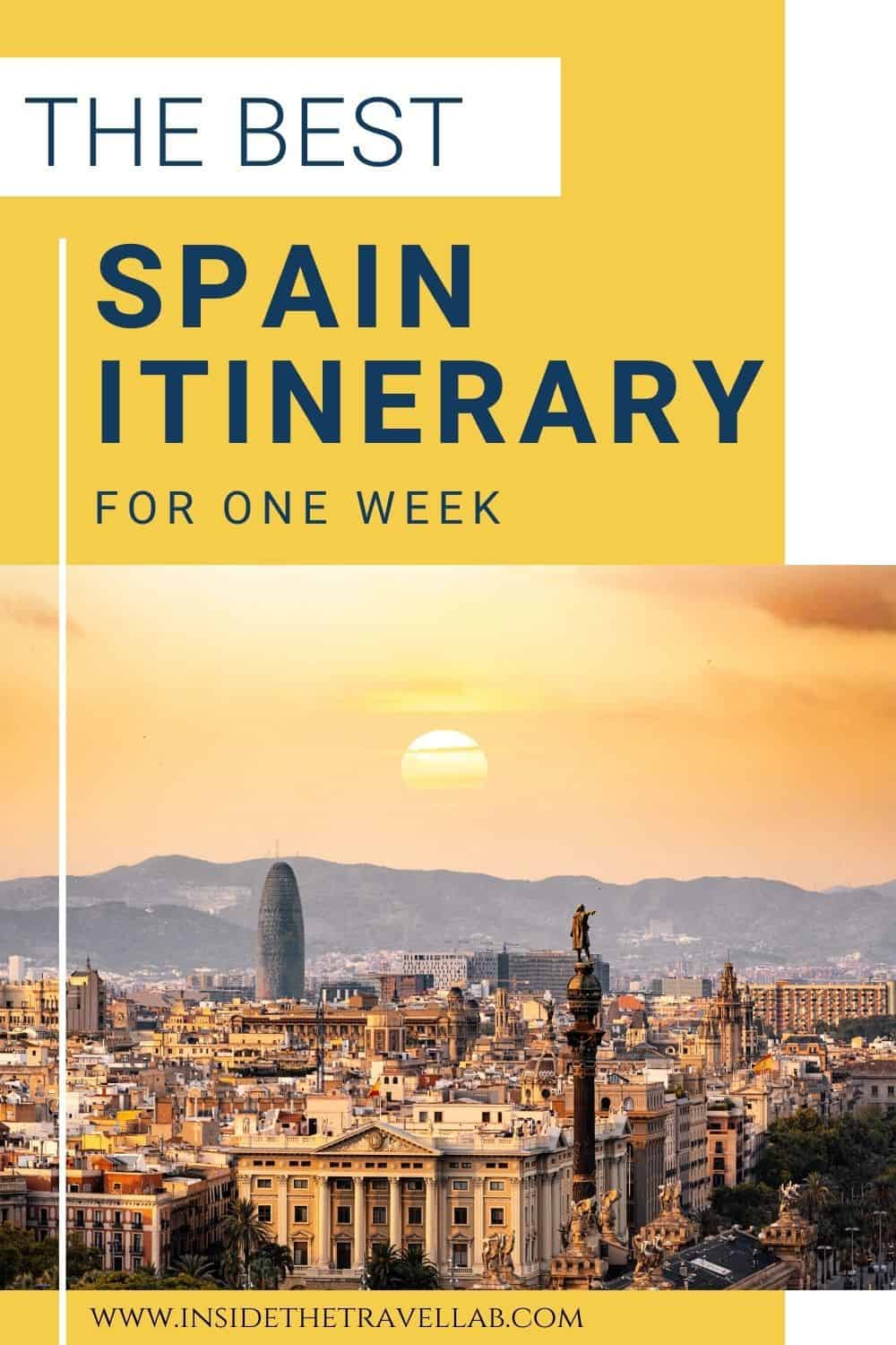 The best Spain itinerary - how to see Spain in a week cover image