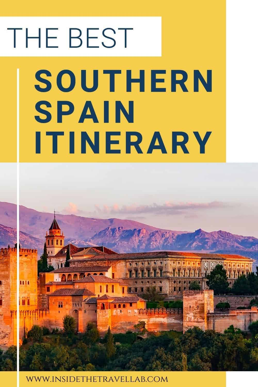 Southern Spain Travel Guide and Southern Spain Road Trip Itinerary - Alhambra in Granada