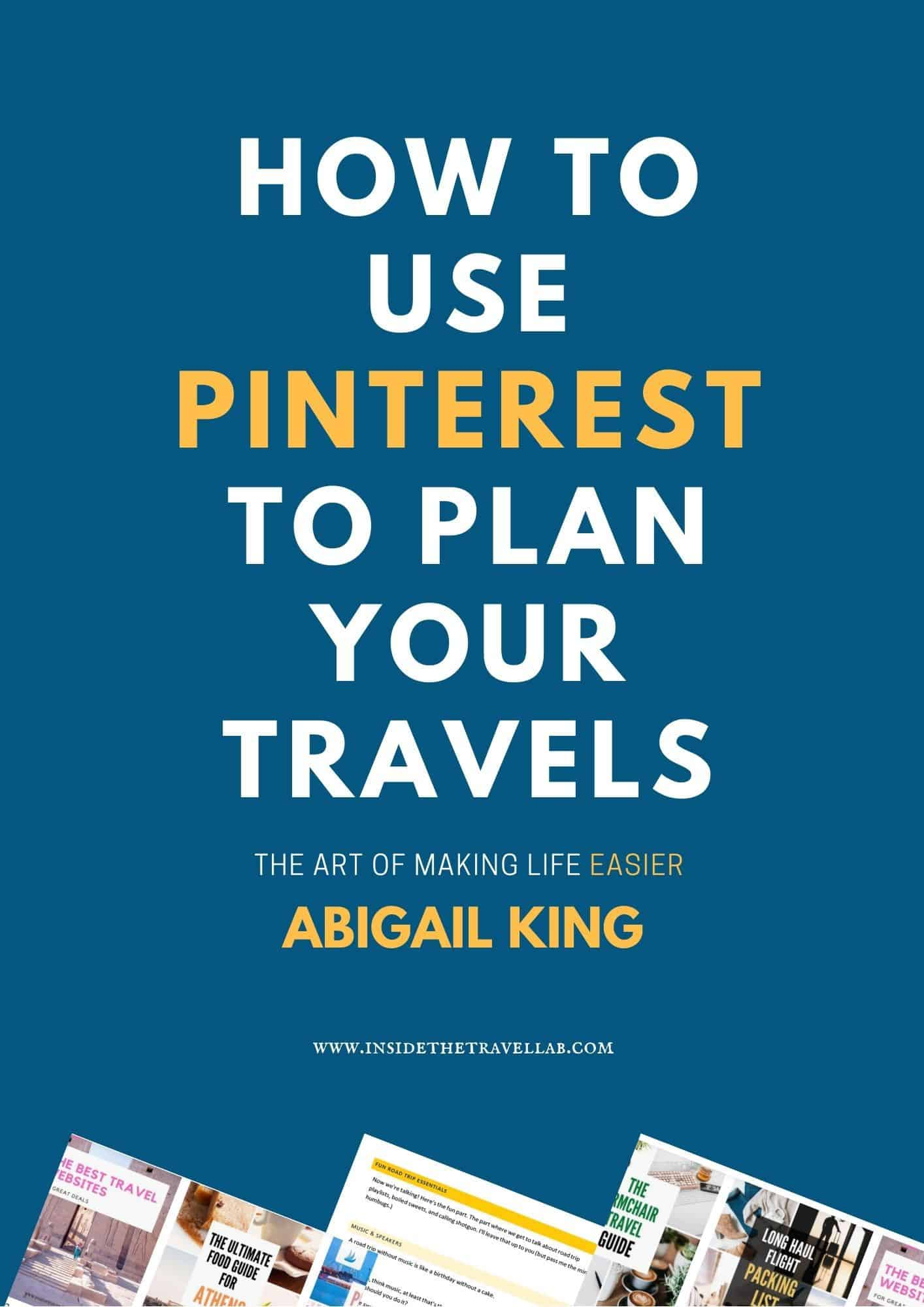 How to use Pinterest to plan your travels