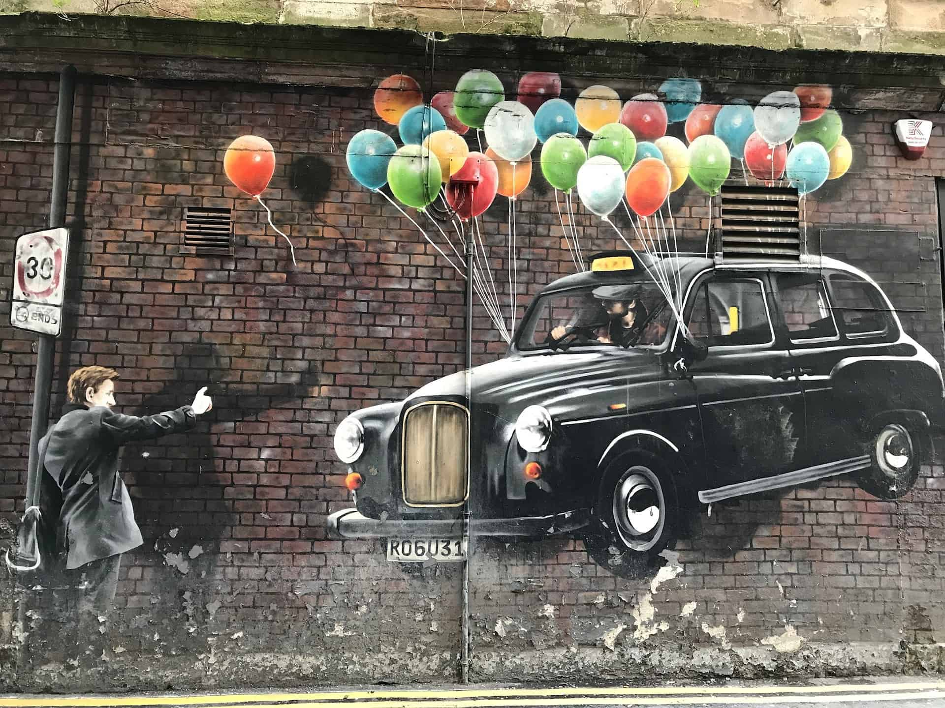 Scotland - Glasgow - Street Art - One week in Scotland road trip itinerary highlight