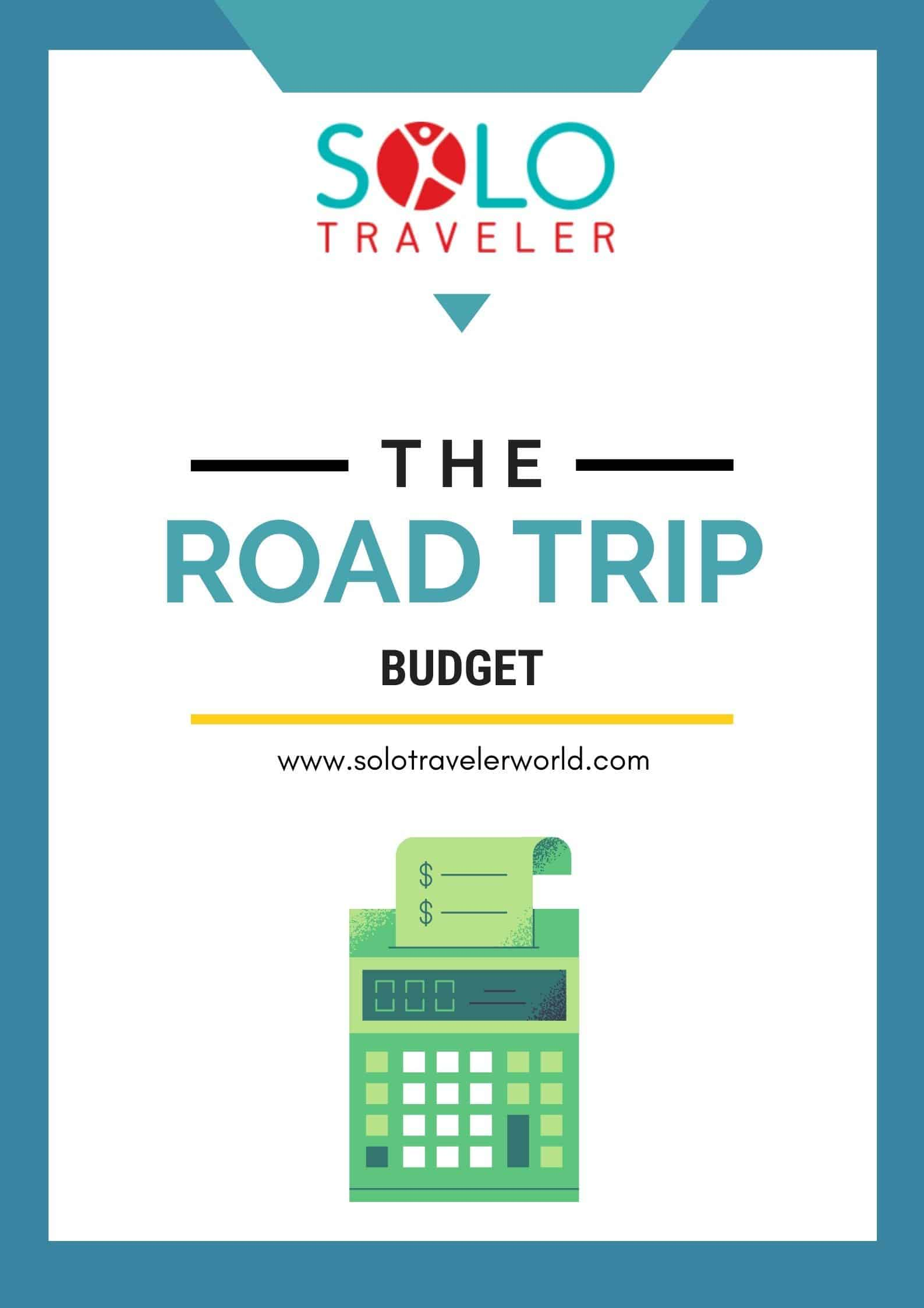 Solo Traveler Road Trip Budget Cover