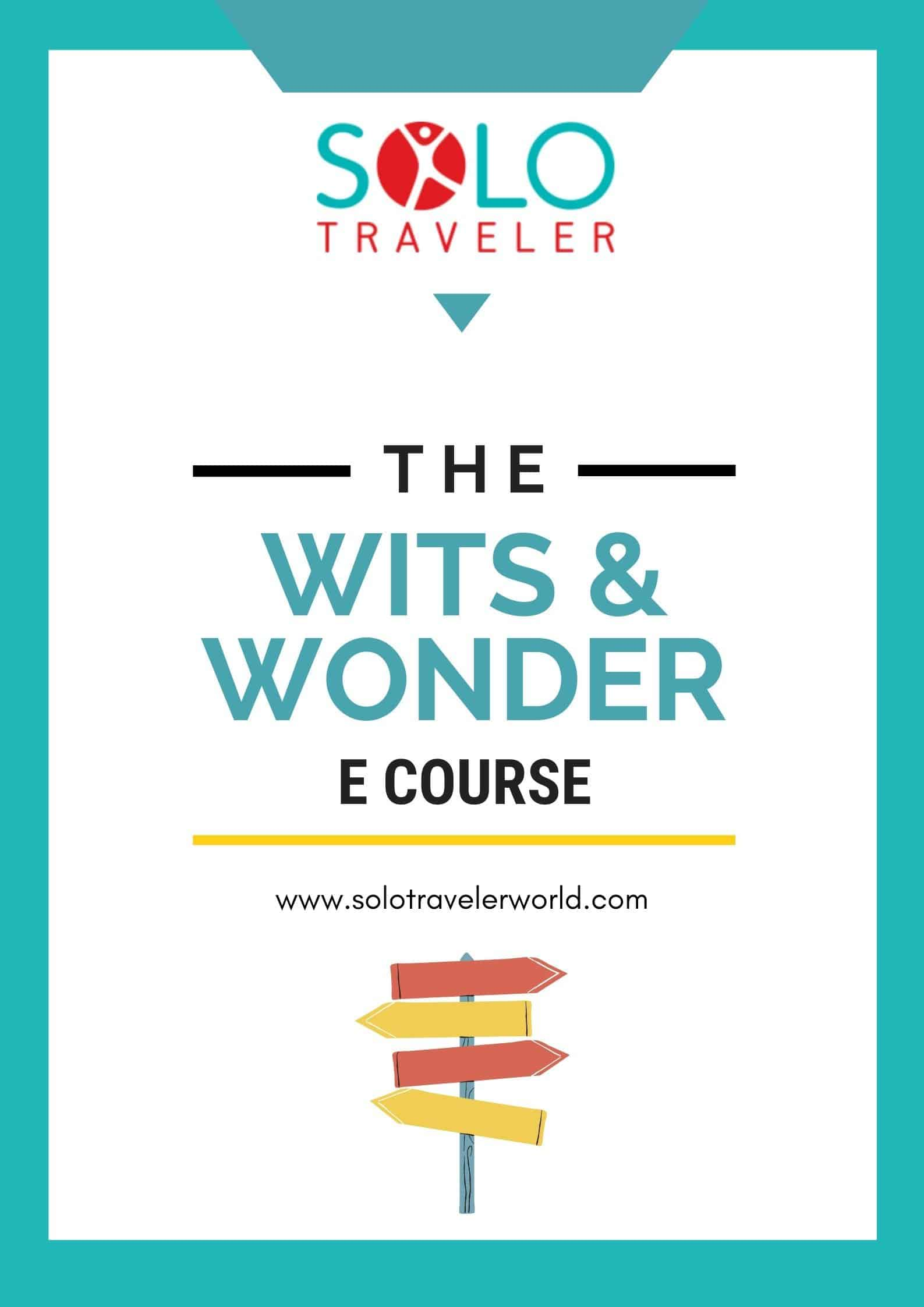 Solo Traveler Wits and Wonder E Course