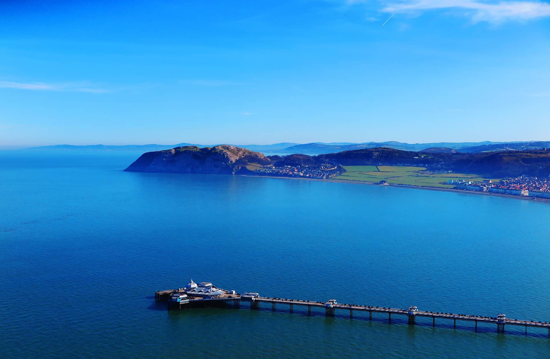 Wales road trip itinerary - Llandudno pier from above