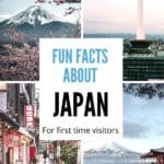 Fun facts about Japan for first time visitors