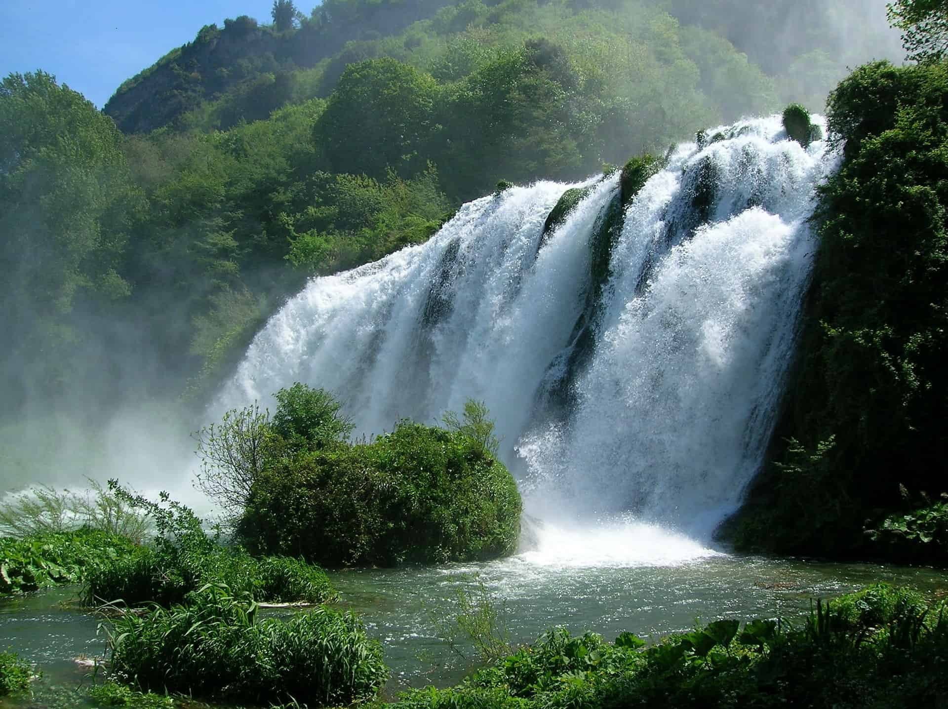 Italy - Umbria - Marmore Waterfalls Landscape View