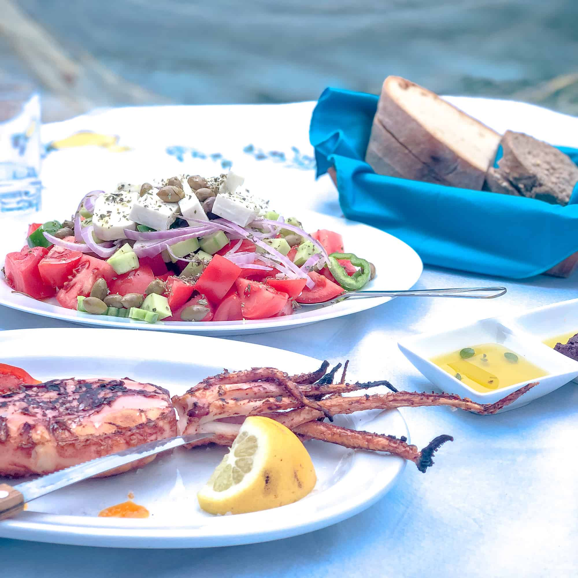 Food and drink quiz questions - woman in Borneo - round the world food questions - summer platter in Greece