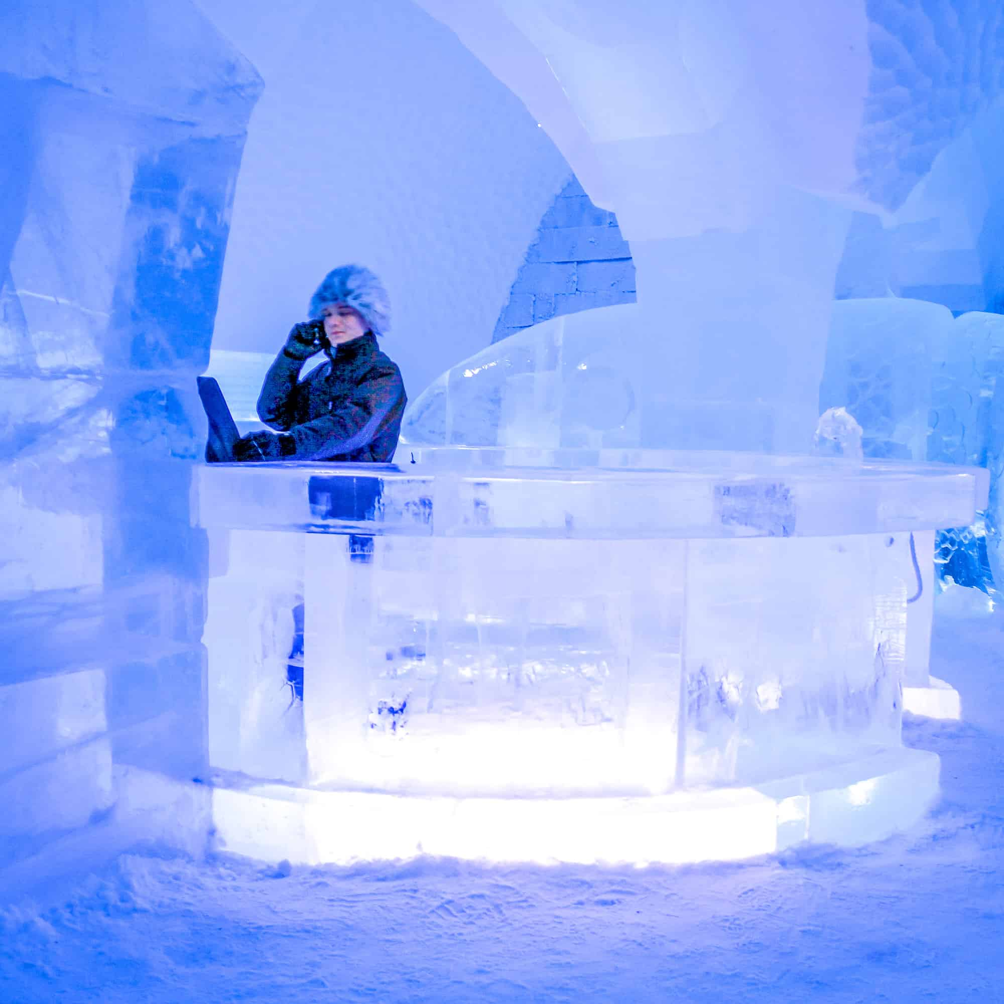 Food and drink quiz questions - woman in Borneo - round the world food questions - the ice bar in Sweden