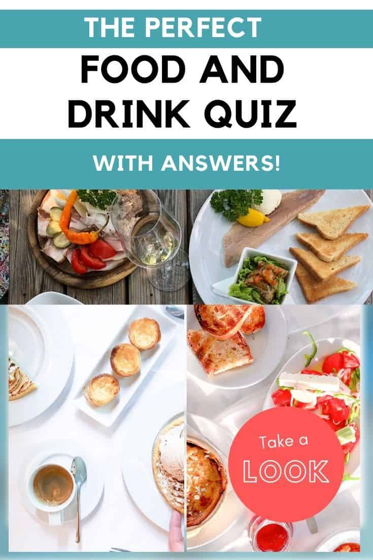 Perfect food and drink quiz with answers - fun food trivia questions cover image