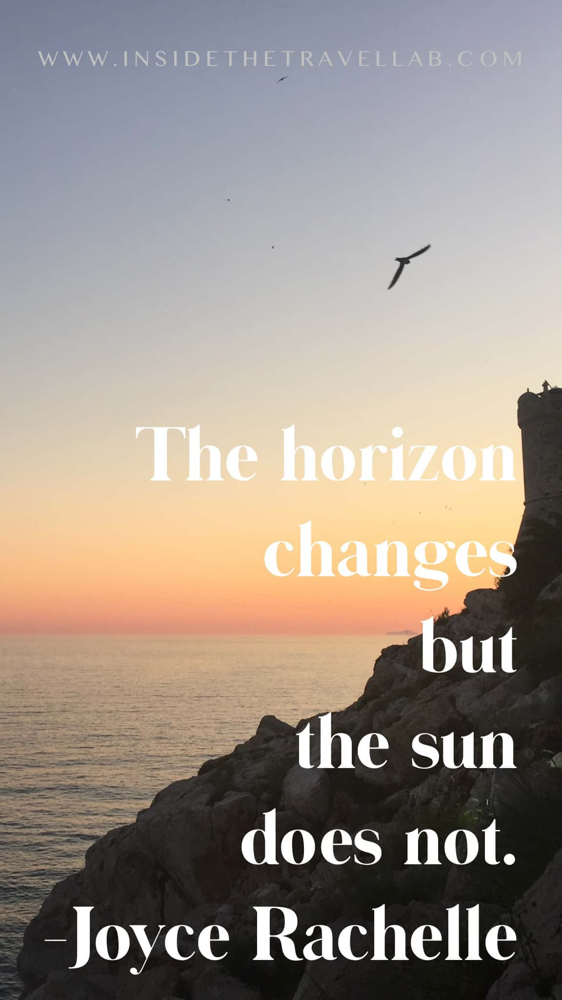 Sunset captions and sunset quotes - the horizon changes but the sun