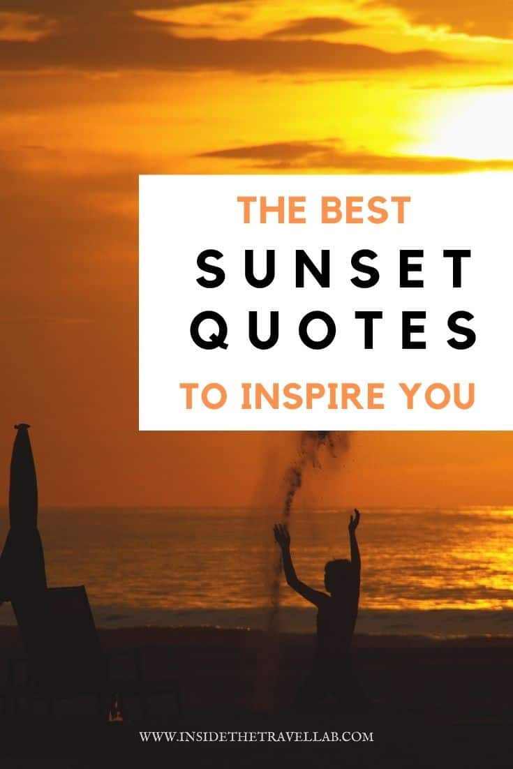 Best sunset quotes to inspire you