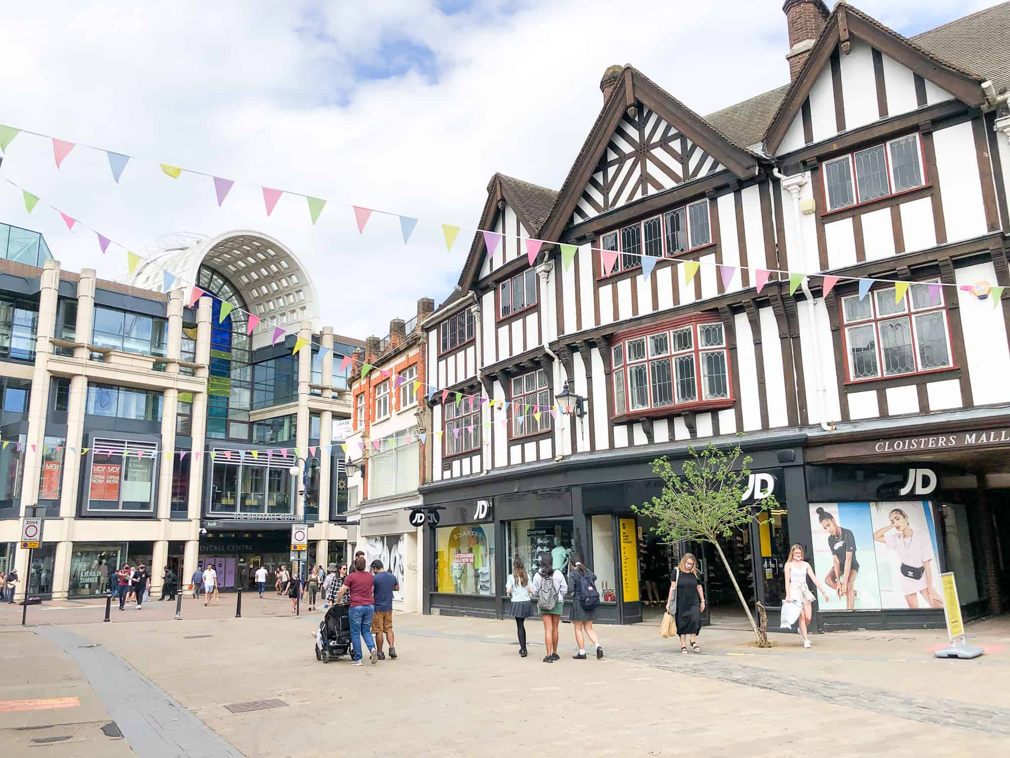 England - Kingston upon Thames - Street scenes with Bentall Centre and Tudor Facade buildings