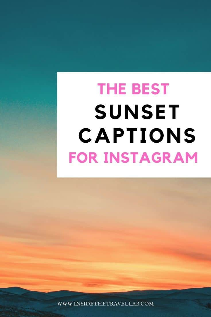 The best sunset captions for instagram