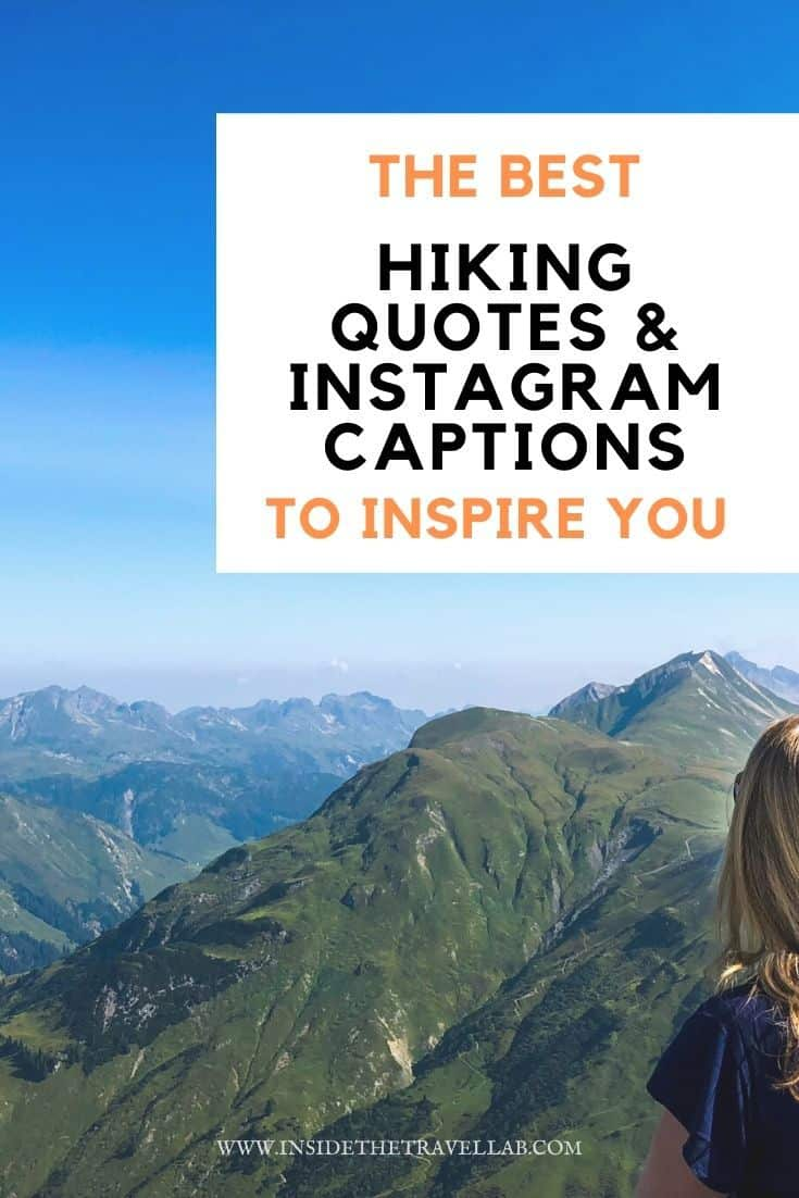 Best hiking quotes and instagram captions cover image