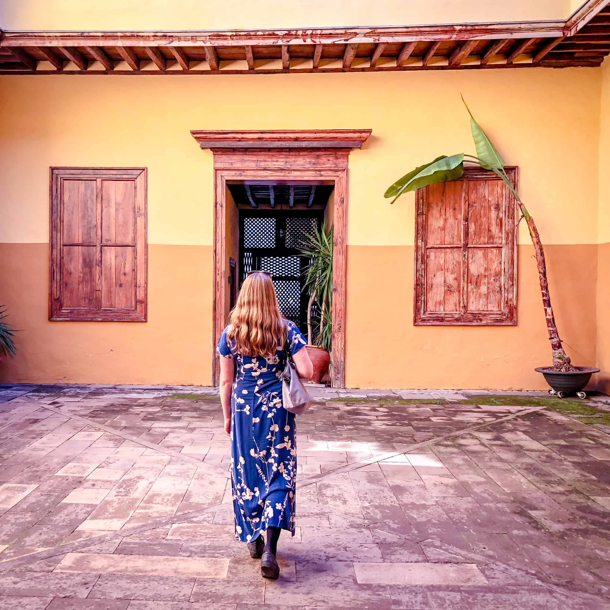 Questions about Spain- inside historical buildings in La Laguna in Tenerife, Canary Islands