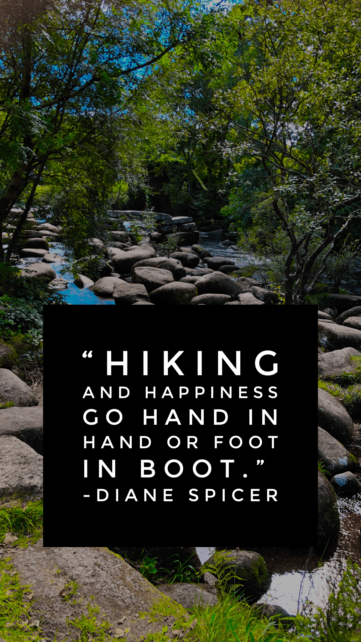 Hiking and happiness go hand in boot hiking caption