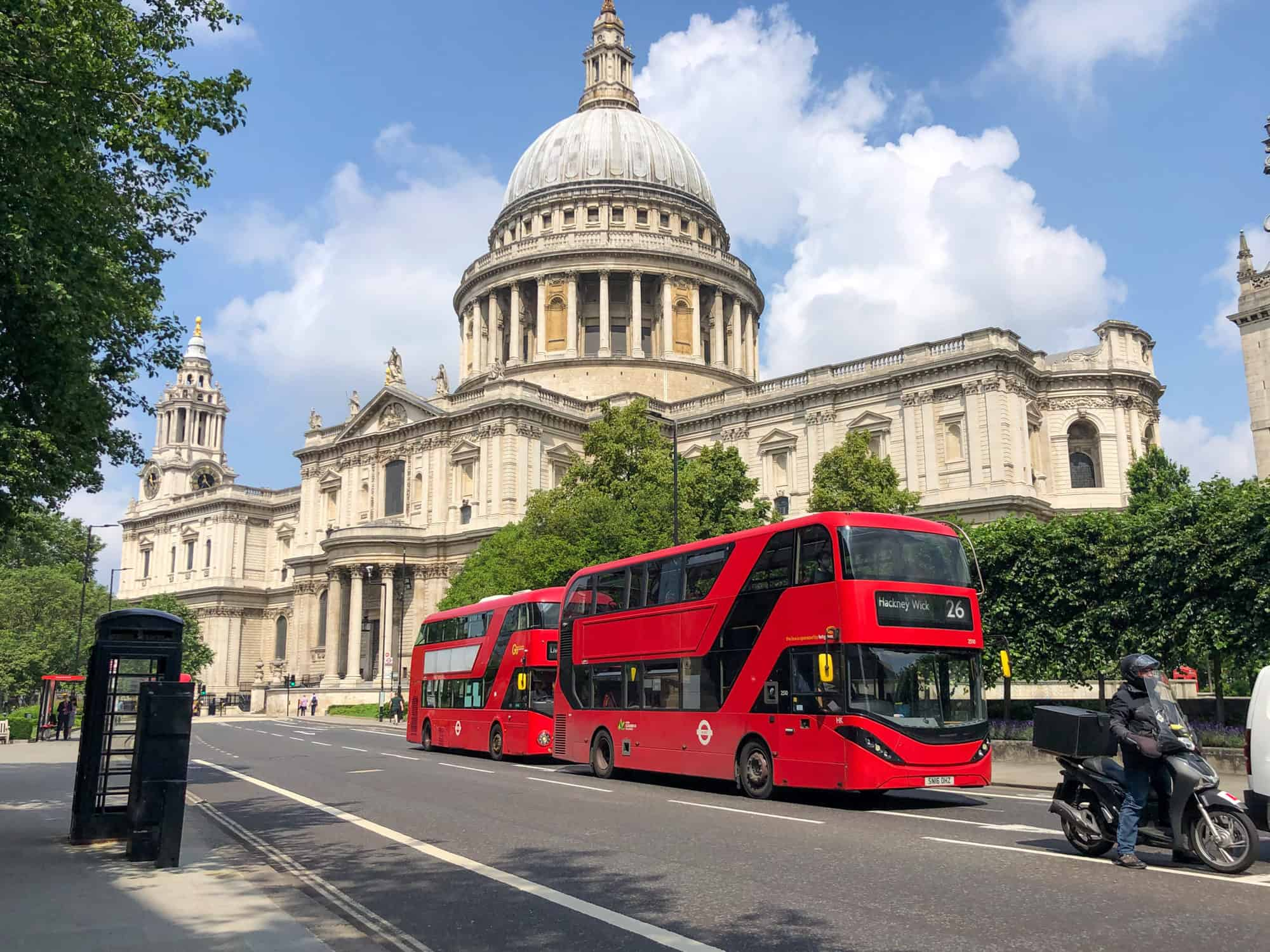 UK - England - St Paul's and Red Bus