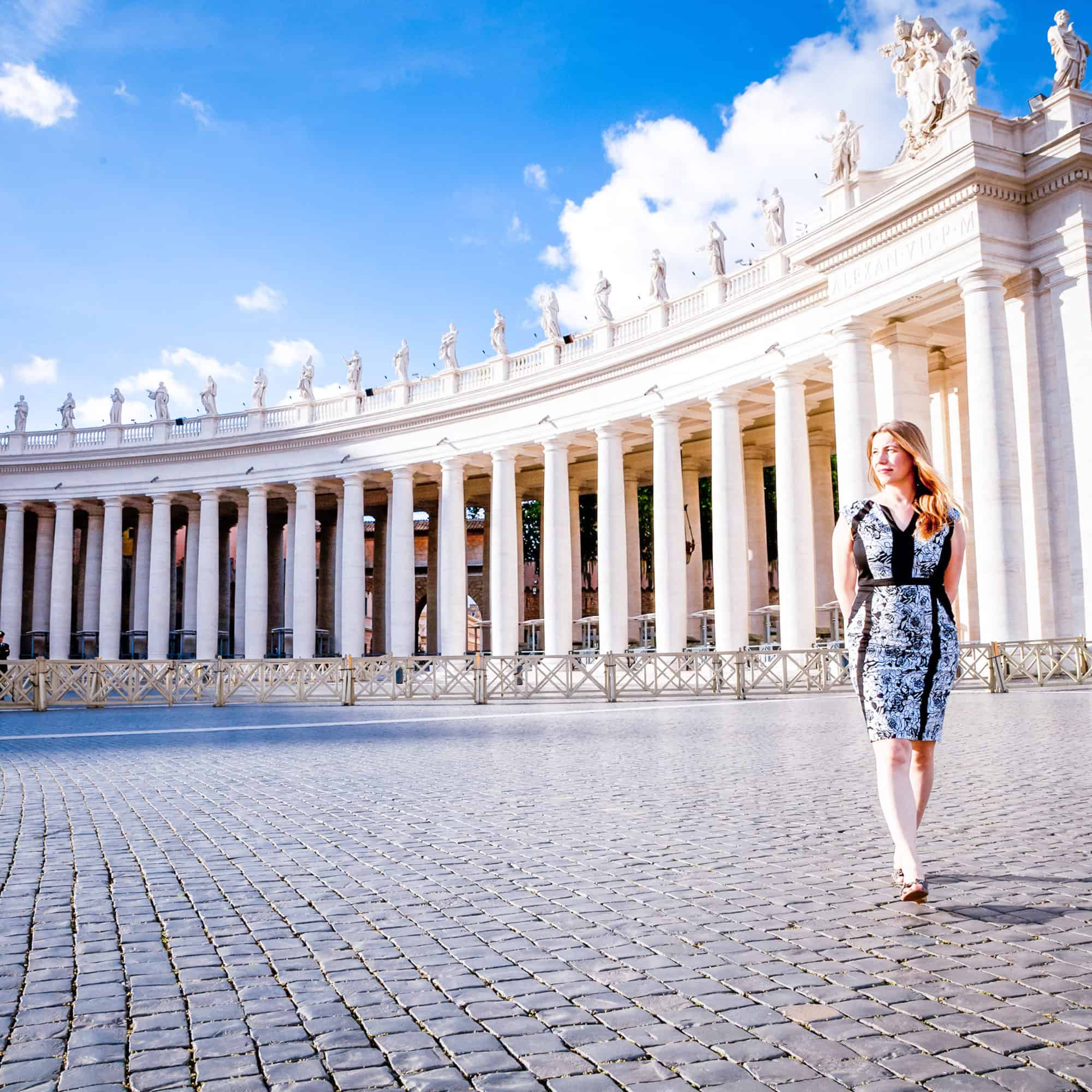 Italy - Rome- Abigail King walking outside the Vatican